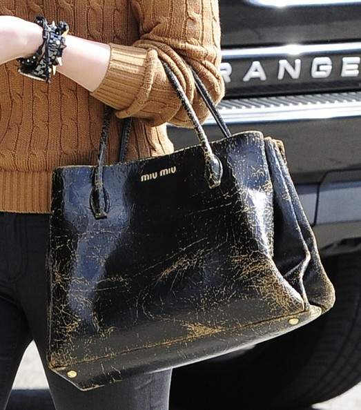 Chloe Grace Moretz Leather Tote