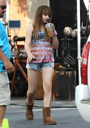 Chloe Grace Moretz showed her patriotic side with this flag tank.