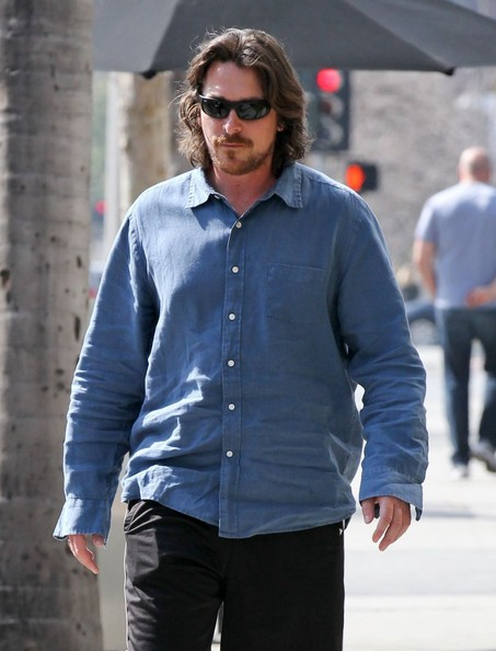 More Pics of Christian Bale Button Down Shirt (2 of 13) - Christian Bale Lookbook - StyleBistro