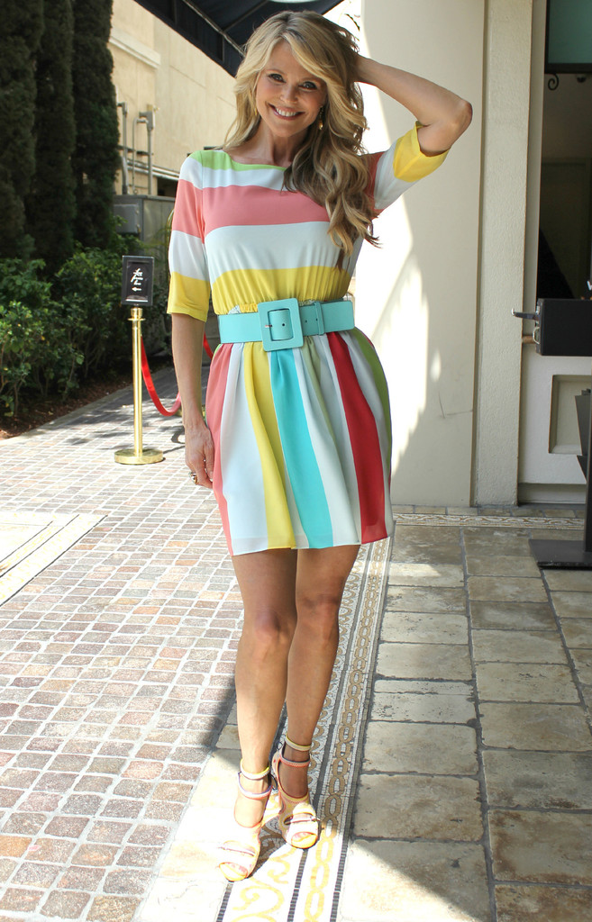 Christie Brinkley Print Dress Christie Brinkley Looks