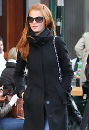 Cintia Dicker wore a pair of round sunnies as she was on her way to lunch.