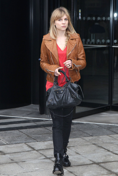 Clemence Poesy Leather Tote