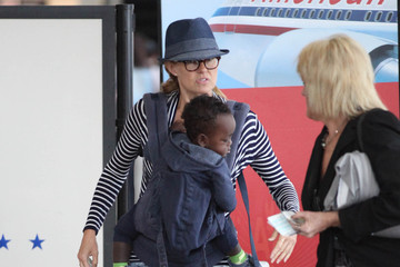Connie Britton Yoby Britton Connie Britton Heads Out With Yoby