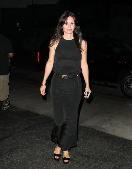 Courteney Cox Maxi Dress