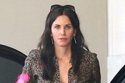 Courteney Cox Print Blouse