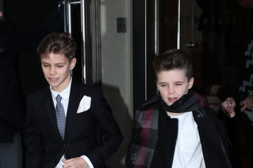 Cruz Beckham Romeo Beckham Victoria Beckham Heads to a Fashion Show in NYC