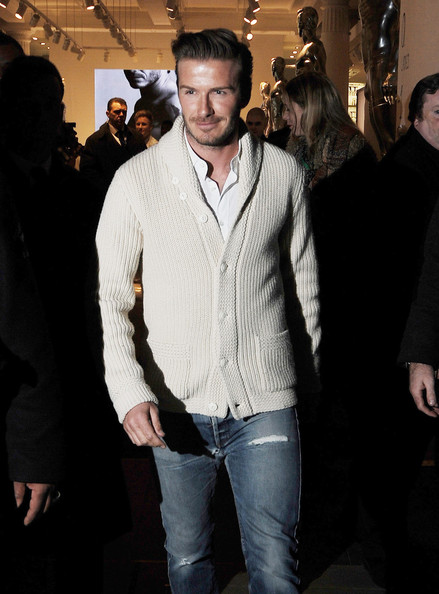 More Pics of David Beckham Cardigan (3 of 8) - David Beckham Lookbook - StyleBistro