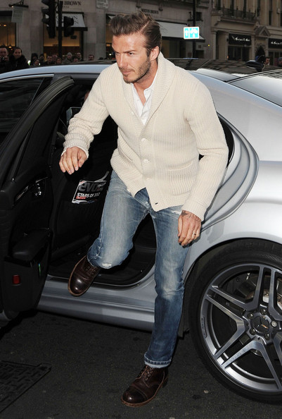 More Pics of David Beckham Cardigan (7 of 8) - David Beckham Lookbook - StyleBistro