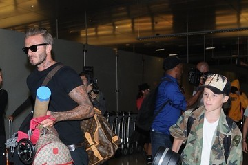 David Beckham Cruz Beckham David Beckham & Family Depart From LAX Airport