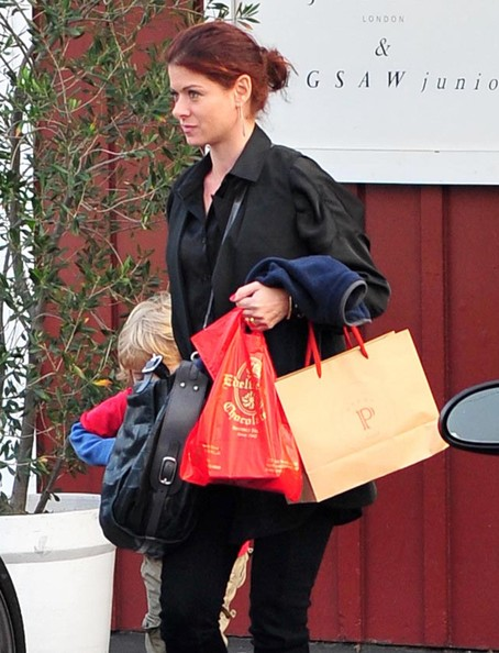 Debra Messing And Son Out Shopping At The Brentwood Country Mart