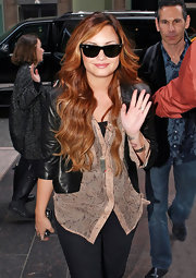 Demi Lovato was lovely in ombre auburn waves.