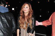 Singer Demi Lovato arrived at her New York City, New York hotel on March 8, 2012. Shortly after her arrival she made her way to the Sirrus Radio station.