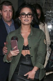 Demi Lovato sported a huge ring while out in New York City.