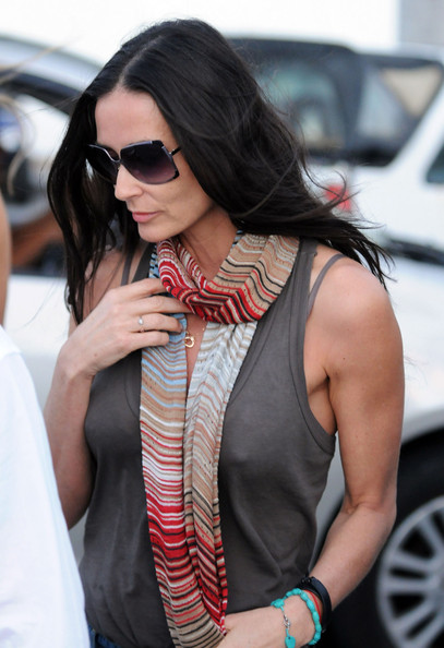 Demi Moore Square Sunglasses