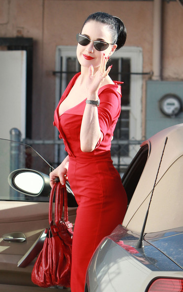 More Pics of Dita Von Teese Day Dress (5 of 21) - Dita Von Teese Lookbook - StyleBistro