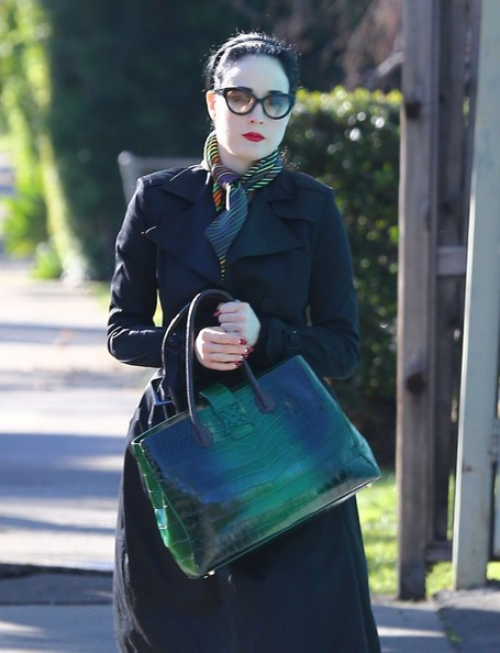 More Pics of Dita Von Teese Exotic Skin Tote (4 of 9) - Dita Von Teese Lookbook - StyleBistro