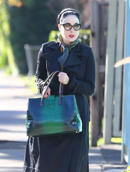 More Pics of Dita Von Teese Exotic Skin Tote (1 of 9) - Dita Von Teese Lookbook - StyleBistro