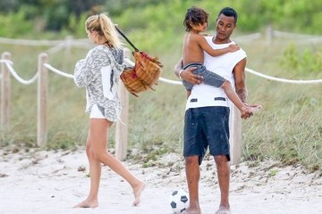 Doutzen Kroes Sunnery James Doutzen Kroes and Sunnery James Go Out With Their Kids in Miami Beach