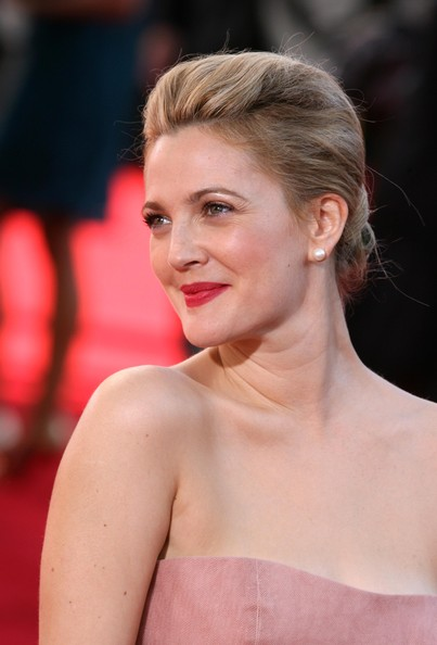 loose bun wedding hair. Drew Barrymore Loose Bun