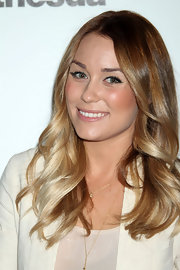 Lauren Conrad wore her hair in relaxed curls at the Elder Scrolls V official launch party.