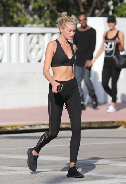 Elsa Hosk Sports Bra