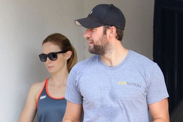 Emily Blunt John Krasinski Emily Blunt and John Krasinski Hit the Gym