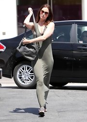 Emily Blunt was seen toting around a leather bag while doing some shopping at Fred Segal.