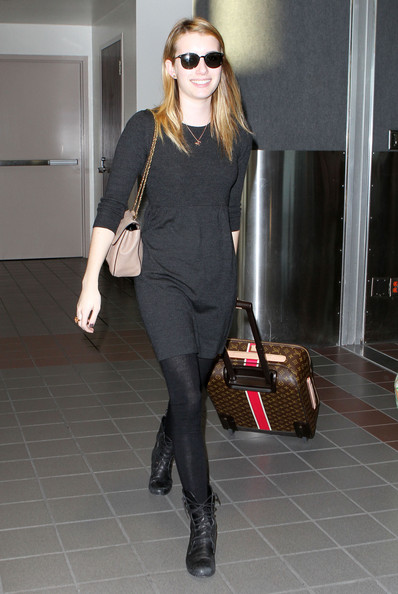 Emma Roberts Leather Suitcase