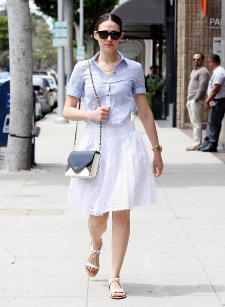 Emmy Rossum Flat Sandals