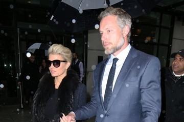 Eric Johnson Jessica Simpson Jessica Simpson & Eric Johnson Step Out In Rainy New York