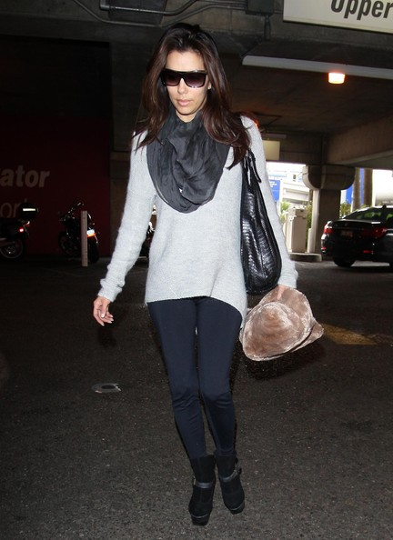 More Pics of Eva Longoria Designer Shield Sunglasses (2 of 30) - Eva Longoria Lookbook - StyleBistro