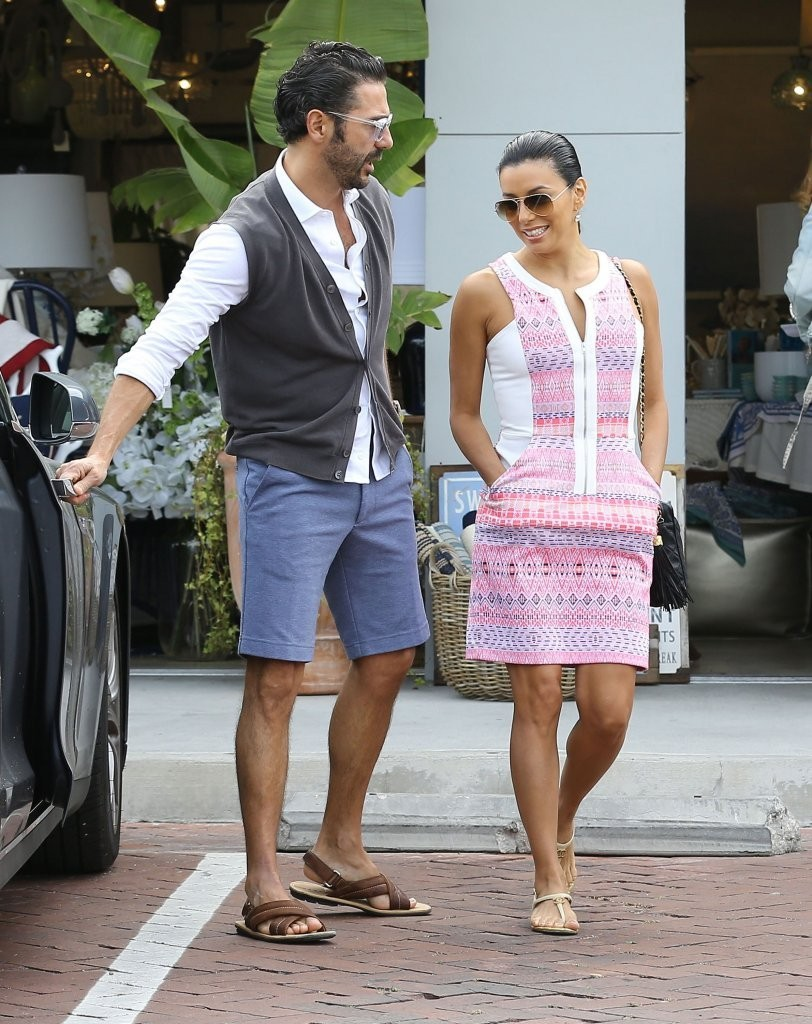 Eva Longoria & Jose Antonio Baston Shopping In Malibu