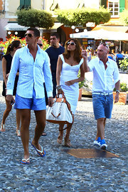 Stefano rocked a cool pair of flip flops while hitting Portofino, Italy.