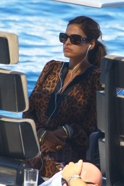 Eva Mendes Rectangular Sunglasses
