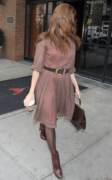 More Pics of Eva Mendes Print Dress (1 of 8) - Dresses & Skirts Lookbook - StyleBistro