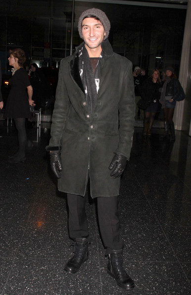 Evan Lysacek Leather Coat