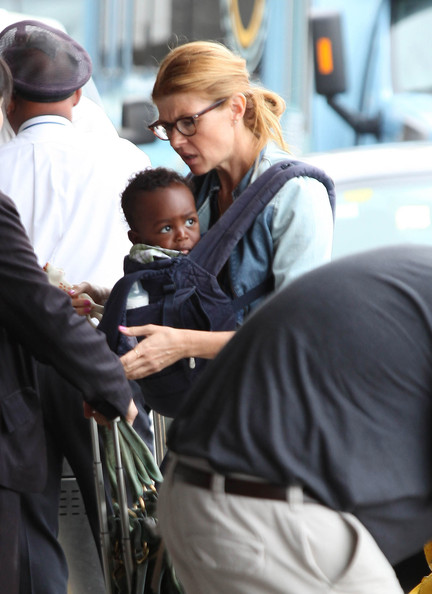 Connie Britton Arrives at LAX with Son Eyob