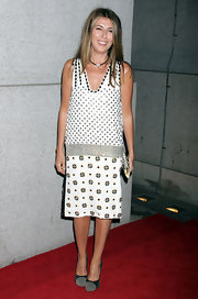 Nina Garcia attended Fashion Group International's Night of Stars wearing a 1920's-inspired print dress.