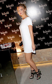 Bar's statement shoes stole the show at the Fashion for Relief runway show at Cannes.