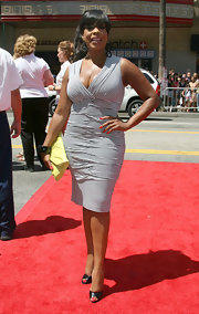 Niecy went nautical in a simple striped dress at the 'G-Force' premiere.