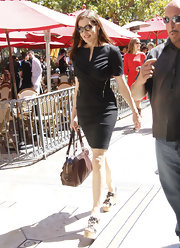 Geena Davis flaunted the perfect LBD for her interview with Mario Lopez.