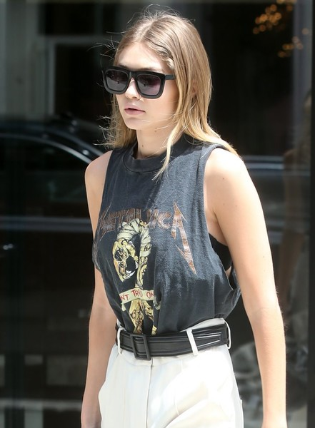 Gigi Hadid Leather Belt