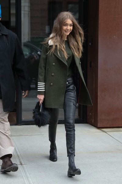 Gigi Hadid Military Jacket