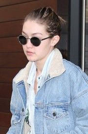 Gigi Hadid looked modern and cool in her round shades while out in New York City.