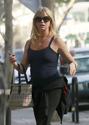 Goldie Hawn ran errands in a pair of oversize oval shades.