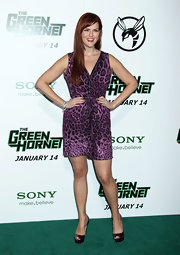 Sara wore a vivacious leopard print cocktail dress for 'The Green Hornet' premiere.