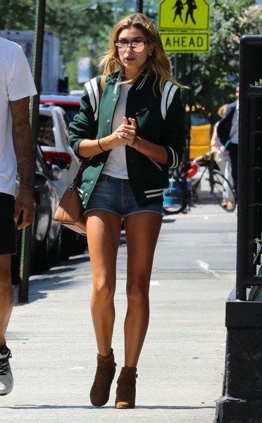 Hailey Baldwin Varsity Jacket