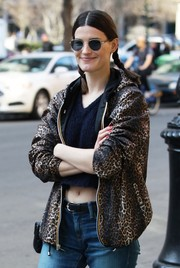 Hanneli Mustaparta was hippie-chic with her round sunnies and pigtail braids while out and about in NYC.