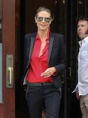 Heidi Klum was classic-chic in her mirrored aviators while out and about in New York City.