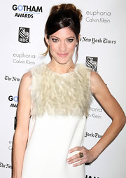 Jennifer Carpenter wore her hair in a casual updo with a few face-framing strands at IFP's 21st Annual Gotham Independent Film Awards.